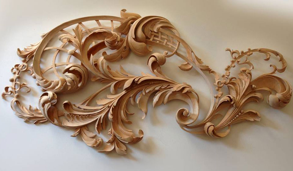 Rococo wood carving by master carver alexander