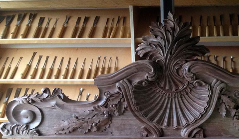 Architectural Reproduction Of Wood Carving By Master Wood